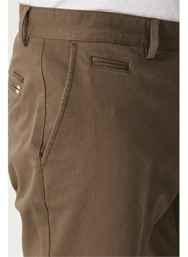 AC&Co / Altınyıldız Classics Slim Fit Dar Kesim Yan Cep Casual Pantolon 4A0121200022 Yeşil